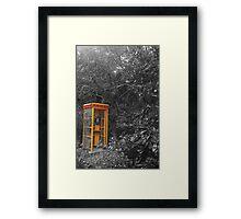 Phone booth Framed Print