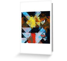 Grungy Colors Greeting Card