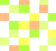 Lemon and Lime Citrus Block Pattern by molmcintosh