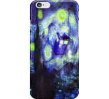 Exploding Tardis in the starry night iPhone Case/Skin