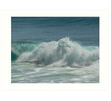 Surfing Burleigh Heads #2 Art Print