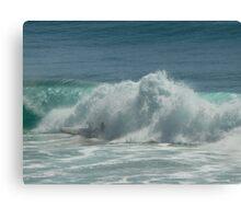 Surfing Burleigh Heads #2 Canvas Print