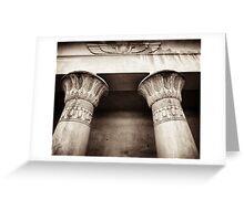 egyptian lotus column detail Greeting Card