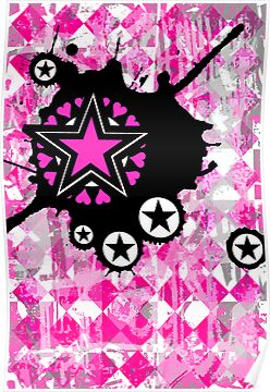 Pink Star Splatter by Roseanne Jones