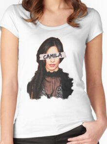 Camila Paint & Sticky Tape Women's Fitted Scoop T-Shirt
