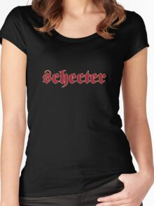 Old Schecter Guitars  Women's Fitted Scoop T-Shirt