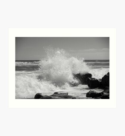 The Big Splash - BW Art Print