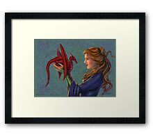 Young Red Dragon Framed Print