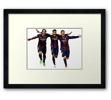 Messi, Suárez and Neymar Framed Print
