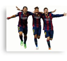 Messi, Suárez and Neymar Canvas Print