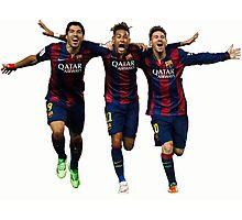 Messi, Suárez and Neymar Photographic Print