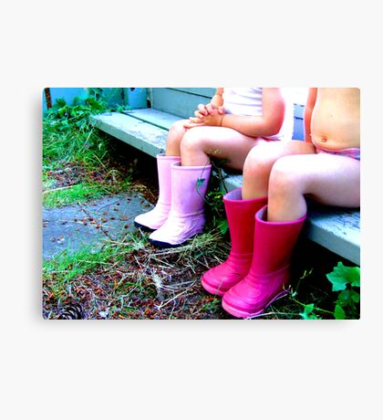 Girls in Boots Canvas Print
