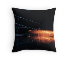 Barbwire Nights Throw Pillow