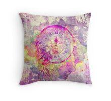 clock texture Throw Pillow