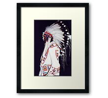 Blackfoot Indian Chief Framed Print