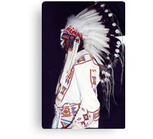 Blackfoot Indian Chief Canvas Print