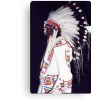 Blackfoot Indian Chief Canvas Print