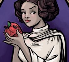 Snow Organa and the Poisoned Death Star Sticker
