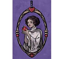Snow Organa and the Poisoned Death Star Photographic Print