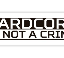 Hardcore White Sticker