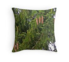Dangling Pinecones Throw Pillow