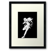 Fighting silhouette Framed Print