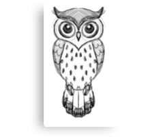 Owl Drawing Canvas Print