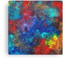 Untitled I - Silver Canvas Print