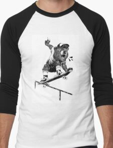 On My Grizzly Men's Baseball ¾ T-Shirt