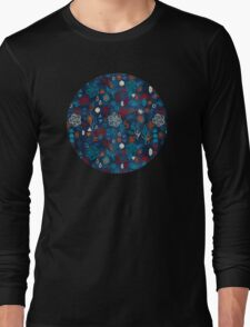 Earth, Water, Fire, Air - a watercolor pattern Long Sleeve T-Shirt