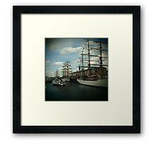 Boston Tall Ships Framed Print