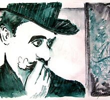A Sad Portrait of Chaplin by Seth  Weaver