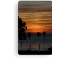 Palm Trees and Pacific Ocean Sunset Canvas Print