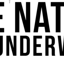 One Nation. Underwood. (Stacked) Sticker