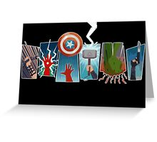 Avengers Power Greeting Card