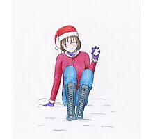 Snow fight Photographic Print