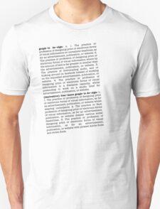 graph•ic de•sign Unisex T-Shirt