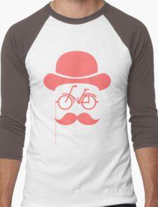 Retro cylinder bicycle Men's Baseball ¾ T-Shirt