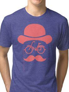 Retro cylinder bicycle Tri-blend T-Shirt