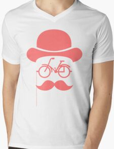 Retro cylinder bicycle Mens V-Neck T-Shirt