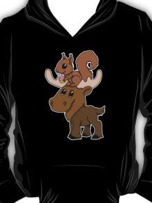 Moose, squirrel and cupcake T-Shirt