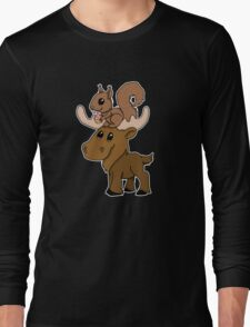 Moose, squirrel and cupcake Long Sleeve T-Shirt