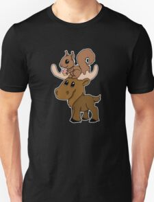 Moose, squirrel and cupcake Unisex T-Shirt