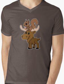 Moose, squirrel and cupcake Mens V-Neck T-Shirt