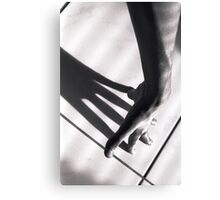 Shadow of hand Canvas Print