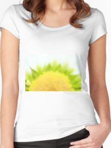 Green Solar Flares Women's Fitted Scoop T-Shirt
