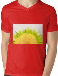 Green Solar Flares Mens V-Neck T-Shirt