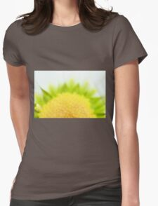 Green Solar Flares Womens Fitted T-Shirt