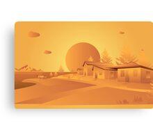 orange Mars Canvas Print