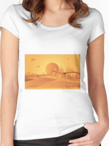 orange Mars Women's Fitted Scoop T-Shirt